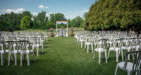 outdoor ceremony indoor reception